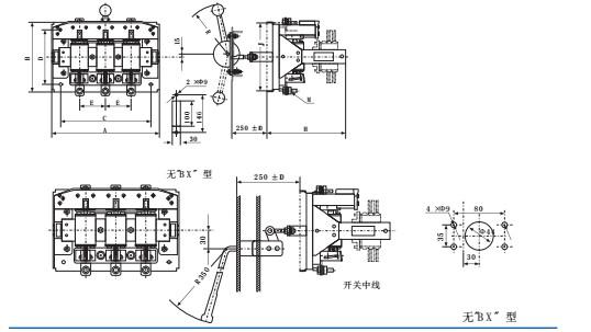 适用范围: HR3熔断器式刀开关用于交流50Hz、380V,额定电流至1000A的配电系统中作为短路保护和电缆,导线的过载保护之用。在正常情况下,HR3熔断器式刀开关可供不频繁地手动接通和分断正常负载电流与过载电流,HR3熔断器式刀开关在短路情况下,由熔断器分断电流。HR3熔断器式刀开关符合IEC60947-3 GB14048.
